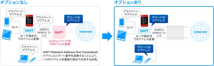 DTI WiMAX 2+ グローバルIPオプション